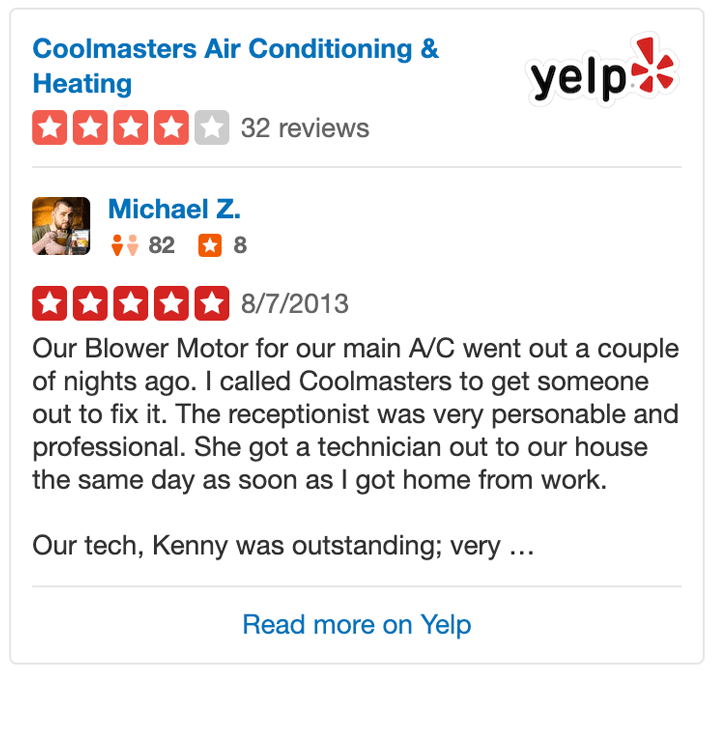 Air Conditioning & Heating Service Reviews